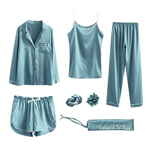 Homewear Set nbsp;pijama nbsp; nbsp; Sleepwear Meaeo Autunno Photo Sentendosi Donna Color Raso Seta Estate Pigiama Imposta Di gOgqwv6