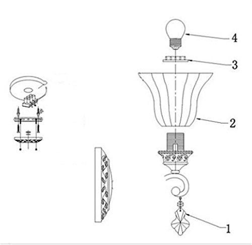 Mur Applique Lampe Led Jardin Européenne Chambre Chevet Arayacy gyf6b7