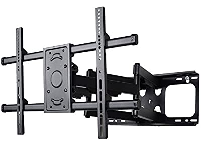 "VideoSecu Articulating TV Wall Mount Bracket for Most 37~70 inch Sony Samsung LG Panasonic Vizio Sharp LED LCD PLASMA, Full Motion Dual Arm pulls out up to 25"" MW390B WTV"