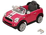 Prinsel Auto Eléctrico Mini Cooper S, Color Rosa