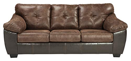 - Ashley Furniture Signature Design - Gregale Contemporary Upholstered Sofa - Coffee Brown