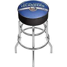 Trademark Gameroom NHL Chrome Bar Stool with Swivel-New York Islanders