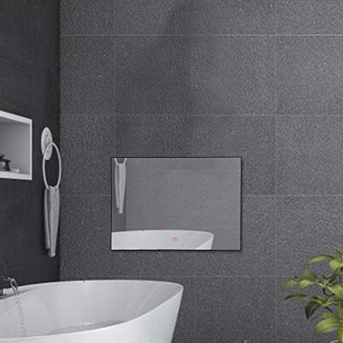 Haocrown 21.5 inch Bathroom Smart Mirror TV Android 9.0 System IP66 Waterproof Shower Television with Built-in Wi-Fi