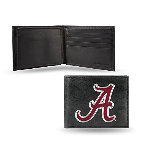 Rico Industries NCAA Alabama Crimson Tide Embroidered Leather Billfold Wallet