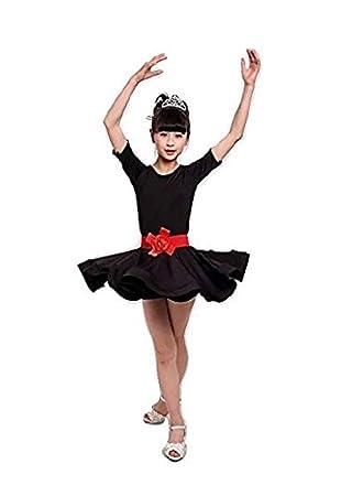 Children s Dance Dress Ballet Latin Rumba Samba Dress Skirts Dancewear  Girls Kids 3-15 Years 04ce7e485baf
