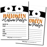 25 Mummy Halloween Party Invitation Cards for Kids Adults, Vintage Birthday or Wedding Bridal Baby Shower Paper Invites, Scary White Costume Dress up, Horror DIY Spooktacular House Bash Idea Printable