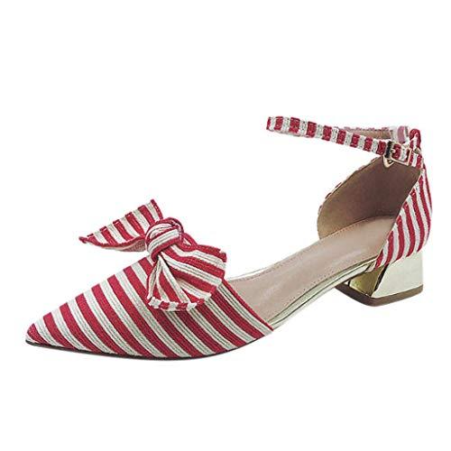 Pointu Pompes Mesdames Rouge Femmes De Chaussures Féminine Occasionnelles Talons Sandales Partie Femme Chaussures Bouche Été qPHvUwZ