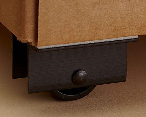 Kinter 107138 Plastic Master Display Caster, 2'' x 2'', Black (Pack of 600) by Kinter