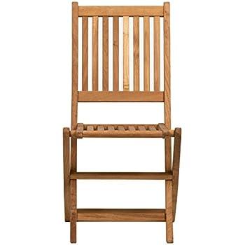 Amazonia Teak London 2 Piece Teak Folding Chair