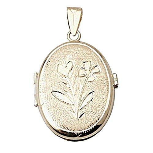 Pendentif or 18k Médaillon ovale [5011GR] - personnalisable - ENREGISTREMENT inclus dans le prix