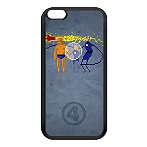 8Bit - Marvel FantasticFour Black Silicon Rubber Case for iPhone 6 Plus by DevilleArt + FREE Crystal Clear Screen Protector