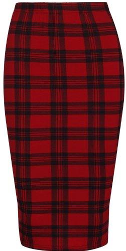 Purple Hanger - Falda tubo elástica para mujer, diseño piel de leopardo, calavera, azteca , bigote Rot Tartan