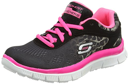 Skechers Kids 81891L Skech Appeal Serengeti Sneaker (Little Kid),Black/Neon Pink,11 M US Little Kid