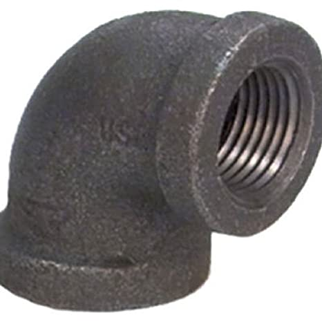 Anvil 8700123857 1-1//4 NPT Female 90 Degree Elbow Black Finish Malleable Iron Pipe Fitting