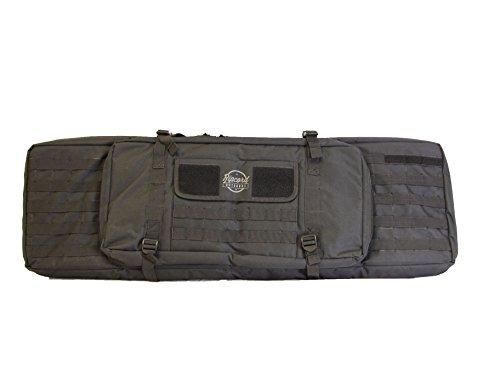 Tactical Rifle Case, 40-inch Soft Bag, 2 Rifles and 2 Pistols, Hideaway Backpack Straps for Handheld or Shoulder Usage Turkey Shotgun Shells