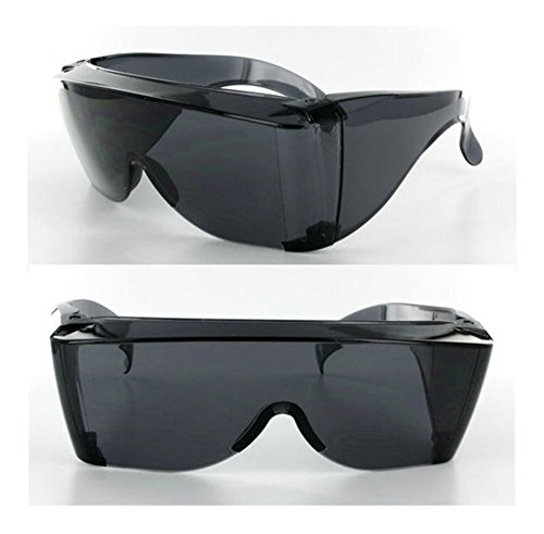 Kerkhoff Style Safety driving Large Fit COVER Over Most Rx Glasses Sunglasses Dark Lens