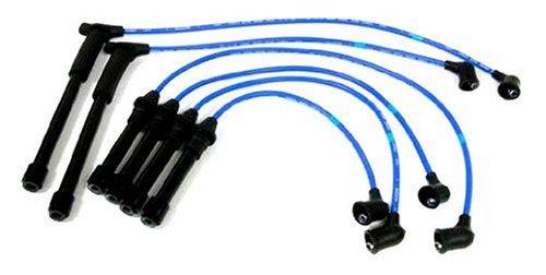 NGK (8113) NX14 Premium Spark Plug Wire Set - Nissan Plug