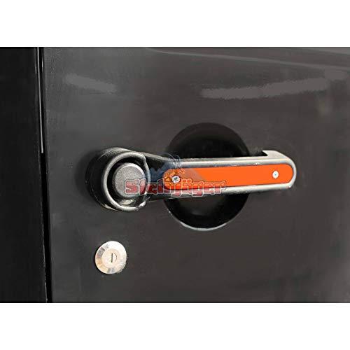 Steinjager 2007-2018 Jeep Wrangler JK/JKU Unlimited Door Handle Accent Kit (Fluorescent Orange, 3-Pack) J0044793
