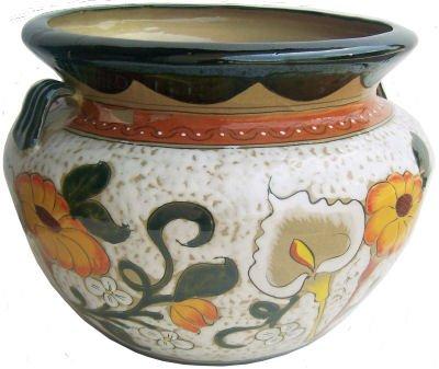 Southwestern Pottery (Big Lily/Sunflower Talavera Ceramic Pot)