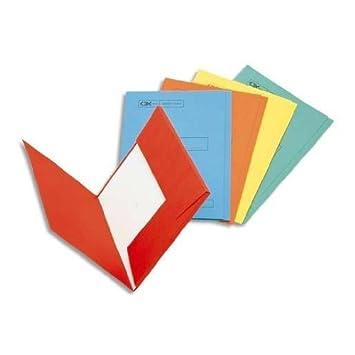 Esselte-Leitz - Lote de 100 carpetas con 2 solapas para cajón o armario archivador (160 g), color amarillo: Amazon.es: Oficina y papelería