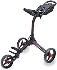 Bag Boy 71746 Compact 3 Push Cart, Matte Black/Red