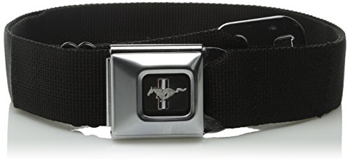 Buckle-Down Ford Mustang Seat-Belt Style Fashion Belt (SBB-FMW10200) (Buckle Down Belt Buckles)