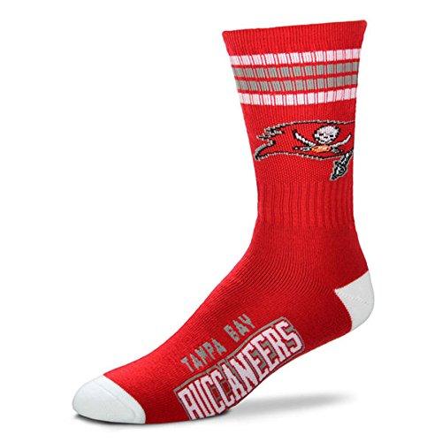 (NFL 4 Stripe Deuce Socks All 32 Teams - Men's Large (fits 10-13) (Tampa Bay Buccaneers 2))