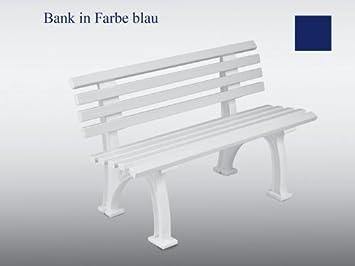 Banc De Jardin Park Banc En Plastique Bleu 120 Cm Amazonfr Jardin