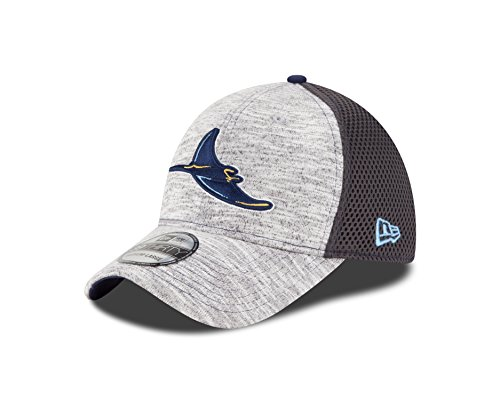 MLB Tampa Bay Rays 2016 Clubhouse 39Thirty Stretch Fit Cap, Small/Medium, Heather Gray