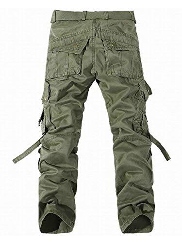 Cargo Cotone Da Combattimento Casual Multiple Arrampicata Completo Lunghi Vintage Tasche Pantaloni Con Aderente Armeegrün Lavoro Uomo pqxwvW5d