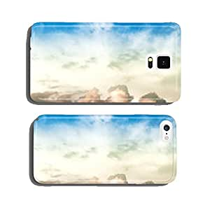 blue sky with clouds cell phone cover case Samsung S6