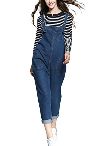Loose Pants Baggy Pants Pants For Women Womens Loose Fitting Hip Hop Thin Cotton Overalls With Pockets Casual Pants Overalls For Women