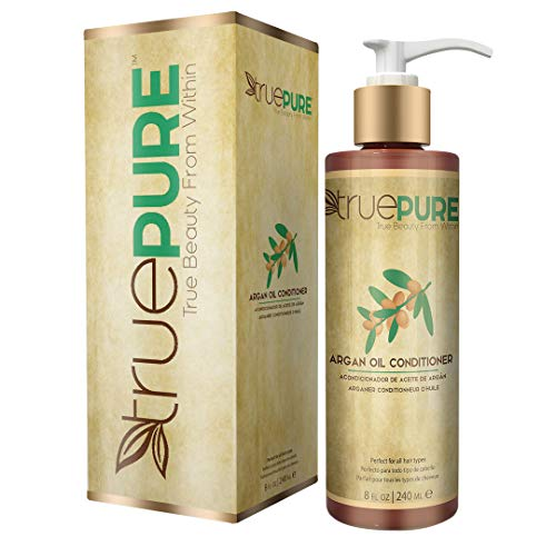 - TruePure Argan Oil Conditioner - Deep Conditioning Hair Treatment For Men & Women With Dry, Damaged Hair - Fragrance Free & Sulfate Free Natural Hair Product, 8oz