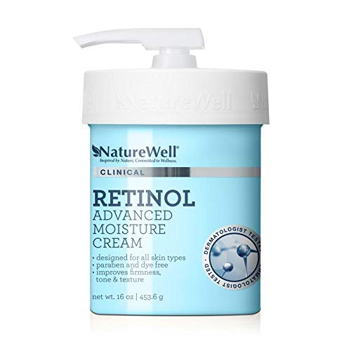 NatureWell Clinical Retinol Advanced Moisture Care Cream, 16. oz. (The Best Wrinkle Cream In The World)