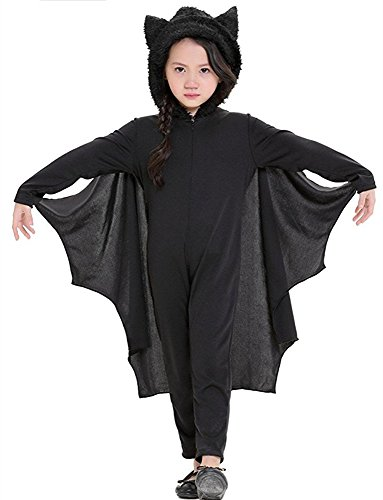 Viyor Halloween Bat Costume Vampire Cosplay for Boys Girls Jumpsuit Small