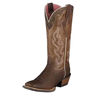 Ariat Women's Crossfire Caliente Cowgirl Boot Wide Square Toe Brown 5.5 M US