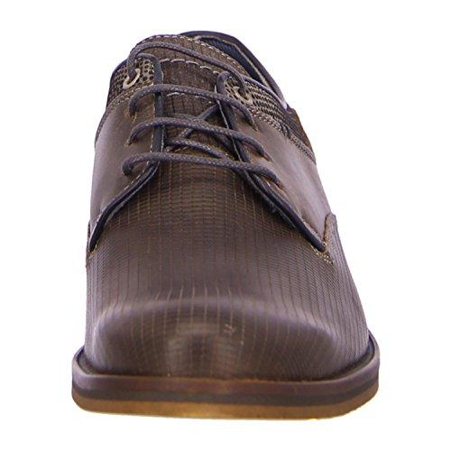 BULLBOXER 880K25935AREGY - Zapatos de cordones de Piel para hombre Gris - regy