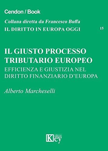 Il giusto processo tributario europeo: Efficienza e giustizia nel diritto finanziario d'Europa (IL DIRITTO IN EUROPA OGGI Vol. 15) (Italian Edition)