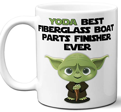 (Funny Gift For Fiberglass Boat Parts Finisher. Yoda Best Employee Ever. Cute, Star Wars Themed Unique Coffee Mug, Tea Cup Idea for Men, Women, Birthday, Christmas,)