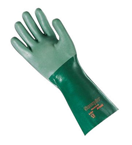 Ansell Size 10 Green Scorpio Interlock Knit Lined 30 mil Neoprene - Pack of 12 by ANSELL (Image #1)