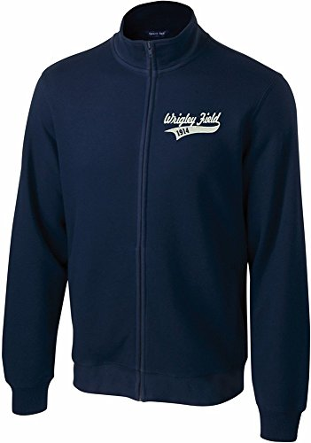 Wrigley Field 1914 Men's Full Zip Sweatshirt-ST259 - Mens Sweatshirt Field