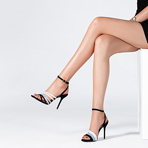 Eu Europa Alto tamaño 22 Unidos Cuero Sandalias Jianxin 5cm 5 Punta 35 Sexy us Abierta Tacón De uk Y jp Con Femeninas Verano Estados Zapatos 3 aIxwTO