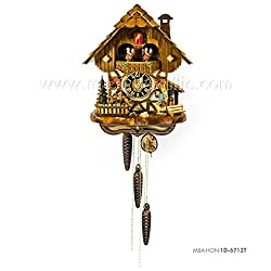 1 Day Musical Black Forest Chalet Cuckoo Clock with Clock Peddler By Hönes