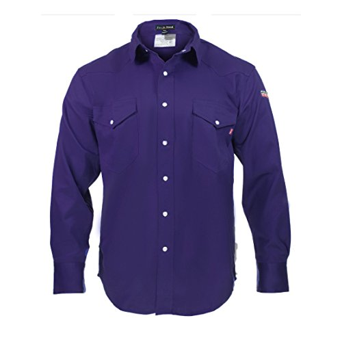 Just In Trend Flame Resistant FR Shirt - 100% C - Light Weight (2XLarge, Navy Blue)