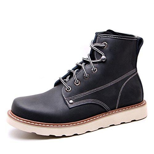 Scarpe casual maschile vestito alpinismo autunno allaperto confortevoli stivali slip on marrone-nero-D Lunghezza piede=41EU