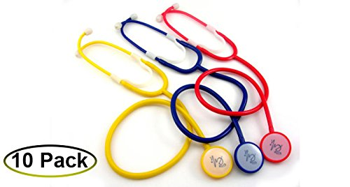 EMI Disposable Stethoscopes 10 Pack - Yellow by Elite Medical Instruments