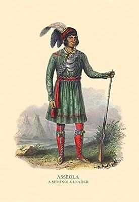 "Asseola (A Seminole Leader)Fine art canvas print (20"""" x 30"""")"