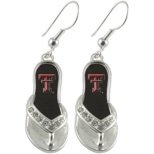 NCAA Texas Tech Red Raiders Flip Flop Earrings ()