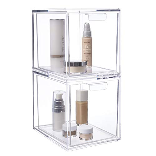 """STORi Audrey Stackable Cosmetic Organizer Drawers 6-3/4"""" Tall 