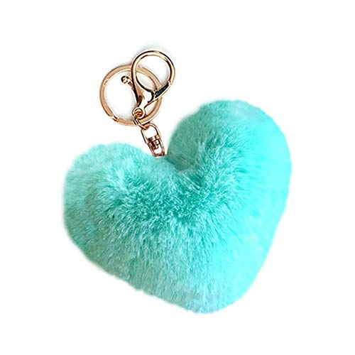 fc4ebb50edd9 SISIMOM Pom Pom Key Ring Love Heart Shape Keychain Bag Pendant Gift for  Valentine's Day New Year-08